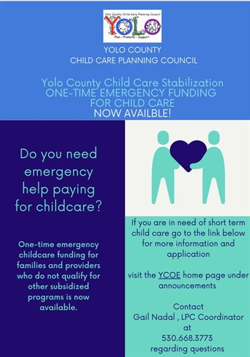 Childcare emergency funding